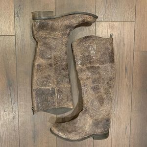 Steve Madden Brown Rover Distressed Leather Boots